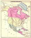 USA 1876: NORTH AMERICA. Old Antique Map. Colored.